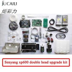 Image 1 - Jucaili طابعة كبيرة xp600 ترقية عدة ل dx5/dx7 تحويل إلى xp600 مزدوجة رئيس كاملة تحويل عدة ل الطابعة الإيكولوجية المذيبة