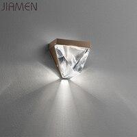 JIAMEN Modern LED Crystal Wall Lamp Metal Wall Sconce Lights for Home Bedroom Living Room Restaurant Loft Fixtures Luminaire
