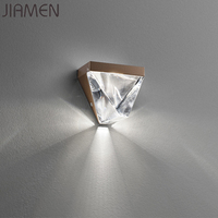 JIAMEN Modern LED Crystal Wall Lamp Metal Wall Sconce Lights for Home Bedroom Living Room Restaurant Loft Fixtures Luminaire