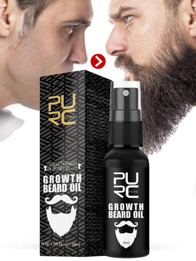 30ml Men Beard Growth Oil Natural Organic Beard Essential Oil Beard Conditioner Men Soften Hair Growth Nourishing Beard Care