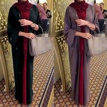 Robe Abaya Fashion Clothing Cardigan Models Arabian Spring Islamic Loose Autumn Solid-Color