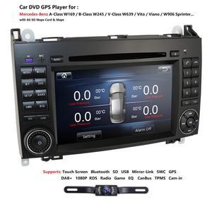 Image 2 - Ossuret Car In Dash DVD Player For Mercedes Benz W169 A150/A160/A170/A180/A200 W245 B160/B170/B180/B200 W639 Vito/Viano GPS Navi