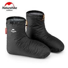 Naturehike 90% לבן אווז 700FP למטה נעל מכסה קמפינג מקורה לשני המינים חורף חם רגליים כיסוי עמיד למים Windproof ForKeep חם