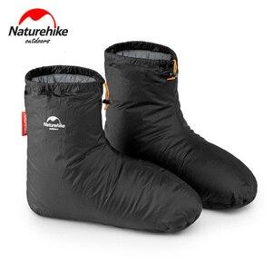 Image 1 - Naturehike 90% White Goose 700FP dół pokrowce na buty Camping kryty Unisex zima ciepłe stopy pokrywa wodoodporna wiatroszczelna ForKeep Warm
