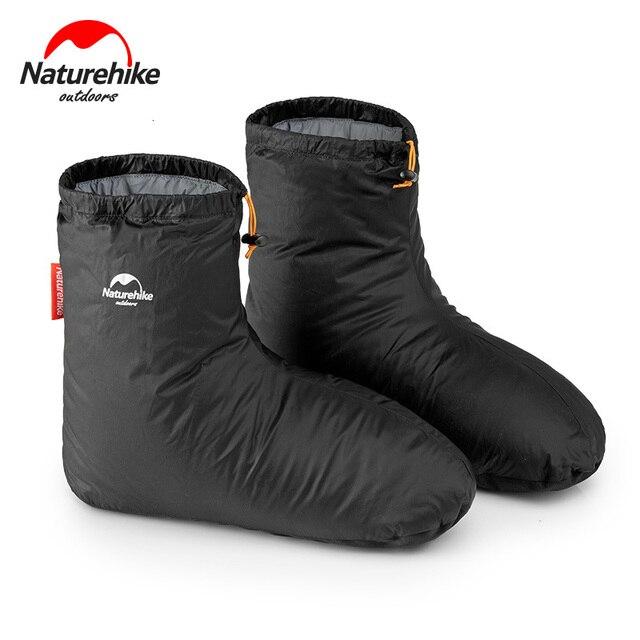 Naturehike 90% White Goose 700FP dół pokrowce na buty Camping kryty Unisex zima ciepłe stopy pokrywa wodoodporna wiatroszczelna ForKeep Warm