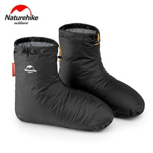 Image 1 - Naturehike fundas para zapatos de ganso blanco, 700FP, para acampar, interior, Unisex, para invierno, cálidas, impermeables, a prueba de viento, ForKeep Warm, 90%