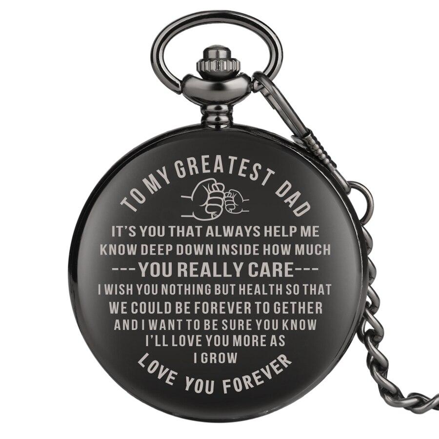 """Yaratıcı """"benim büyük baba serisi"""" Quartz saat kolye Link zinciri fob baba doğum günü hediyeleri reloj bolsillo hemşire saat cep saati"""