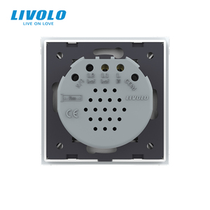 Image 5 - Livolo EU Standard Crystal Glass Panel 220~250V 2gang wireless Wall Light Remote Touch Switch+LED Indicator,remote control