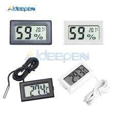 Mini Digitale A CRISTALLI LIQUIDI Conveniente Sensore di Temperatura Tester di Umidità del Termometro Igrometro Gauge 50 ~ 110 Gradi