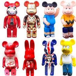 Collections Model Toys Action Figure Decorations Statue Bear Dolls Brick Street Art 400% Bear Vinyl Doll