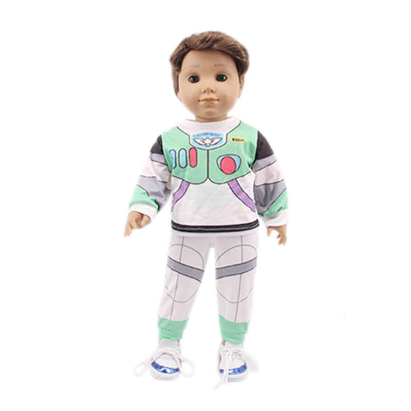 18 Inch Ameican Doll Boy Clothe 43cm 40cm Baby Doll Boy Clothes Outfits Children Girl Birthday New Year Gift