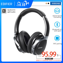 EDIFIER W860NB Bluetooth Headphone ANC Active Noise Cancellation Touch Control 45h Working time Bluetooth V4.1 aptX Decoding