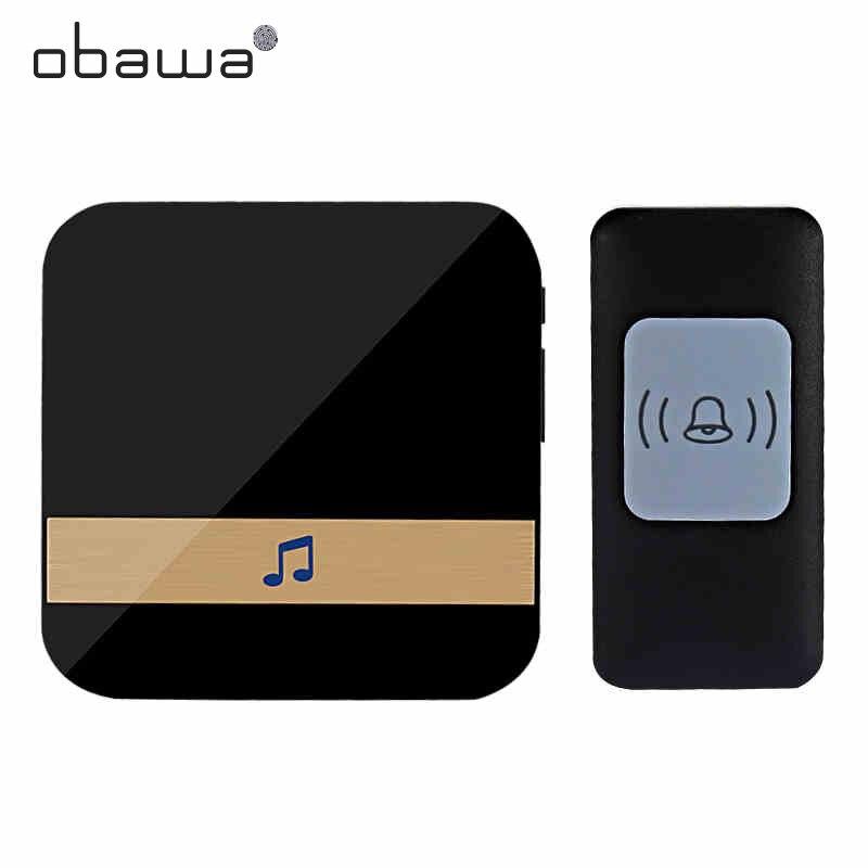 Obawa Intelligent wireless doorbell waterproof wireless home remote through the wall waterproof smart door bell Doorbell     - title=