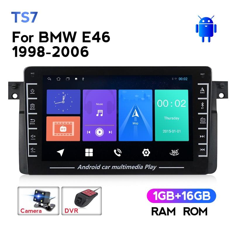Navegação 2din dos multimédios do carro de navifly gps para bmw e46 m3 318/320/325/330/335 1998 - 2006 rádio automático stero wifi câmera swc