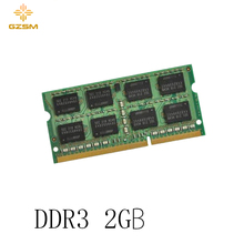 GZSM Laptop Memory DDR3 2GB  Cards 1066MHz 1333MHz 1600MHz RAM 204pin for PC3 8500 10600 12800