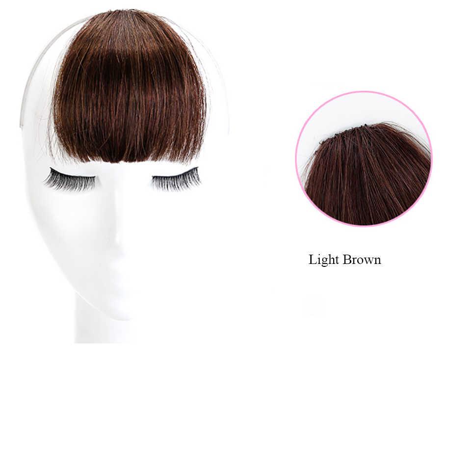 Allaosify 4 colores Clip en pelo flequillo pieza de pelo sintético falso flequillo Clip en extensiones de cabello Clip en flequillo postizos