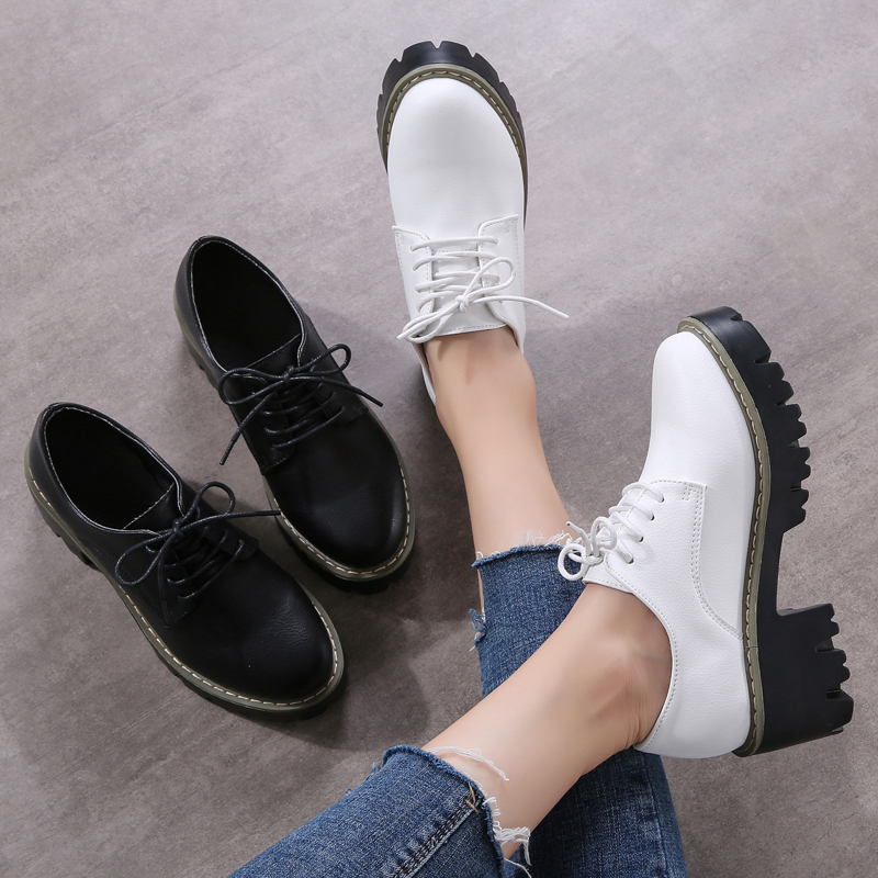 Fashion PU Leather Womens Shoes High Heel Spring And Autmn Waterproof Leisure Shoes  Zapatos Mujer Tacon Luxury Shoes Women