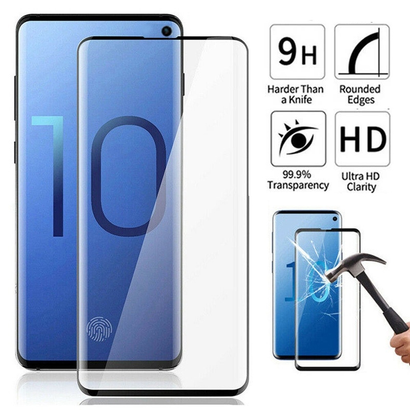 Glass For Samsung S20 Ultra Screen Protector Curved Full Coverage Tempered Glas For Galaxy Note 10 9 8 S10 S9 S8 Plus Protection|Phone Screen Protectors| |  - title=