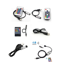 Bluetooth 4,0 USB RGB RF IR Musik Remote Streifen Controller Wifi für rgb 3528 5050 SMD Led Streifen Beleuchtung TV hintergrundbeleuchtung DC 5V