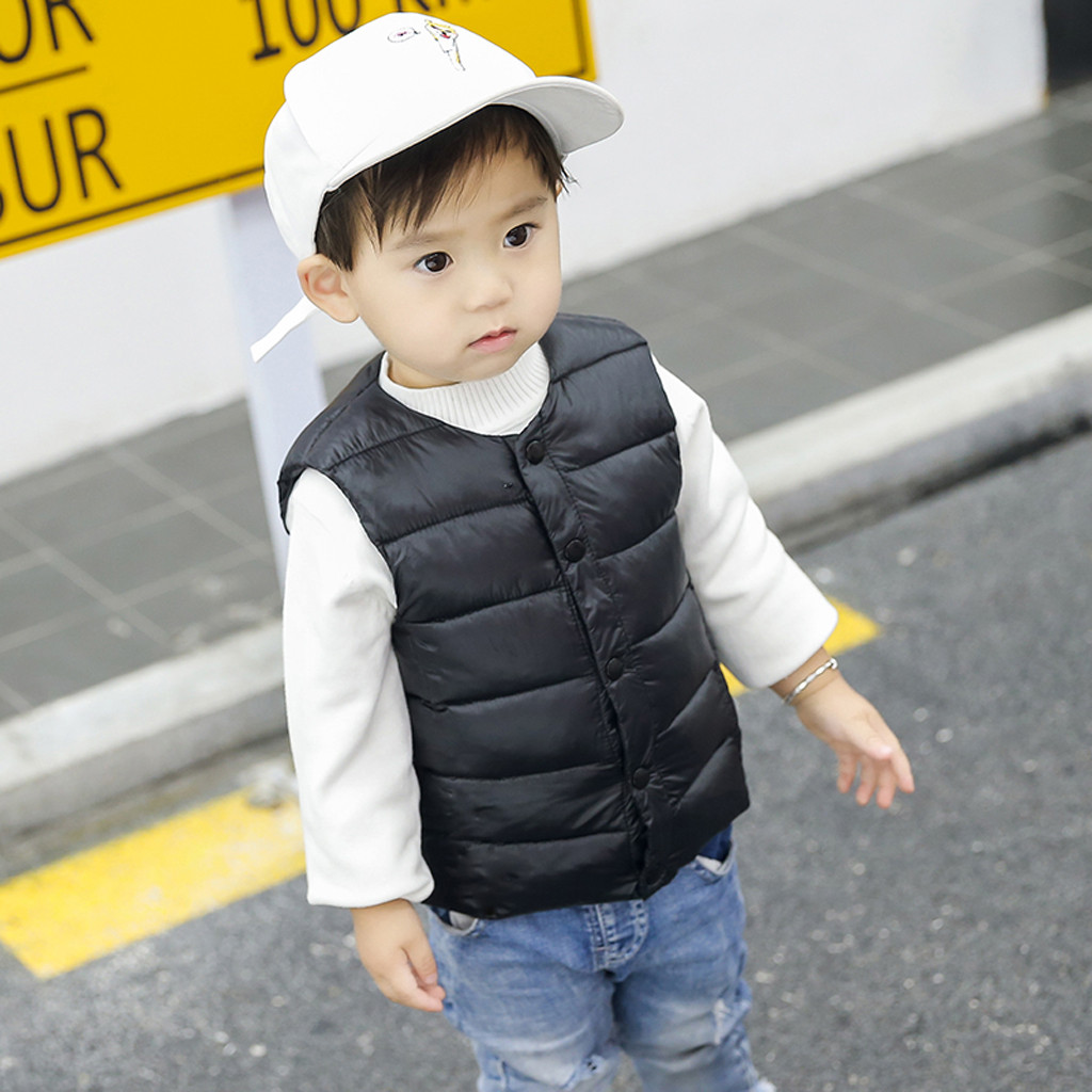 YAGATA Baby Boys Winter Warm Coat Fleece Hooded Toddler Cotton Jackets Puffer Outer Clothing