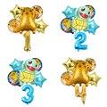 5 шт. серии Pokemon Пикачу Дженни черепаха алюминиевый детские трусы с рисунком шариков номер воздушные шары на день рождения вечерние украшени...