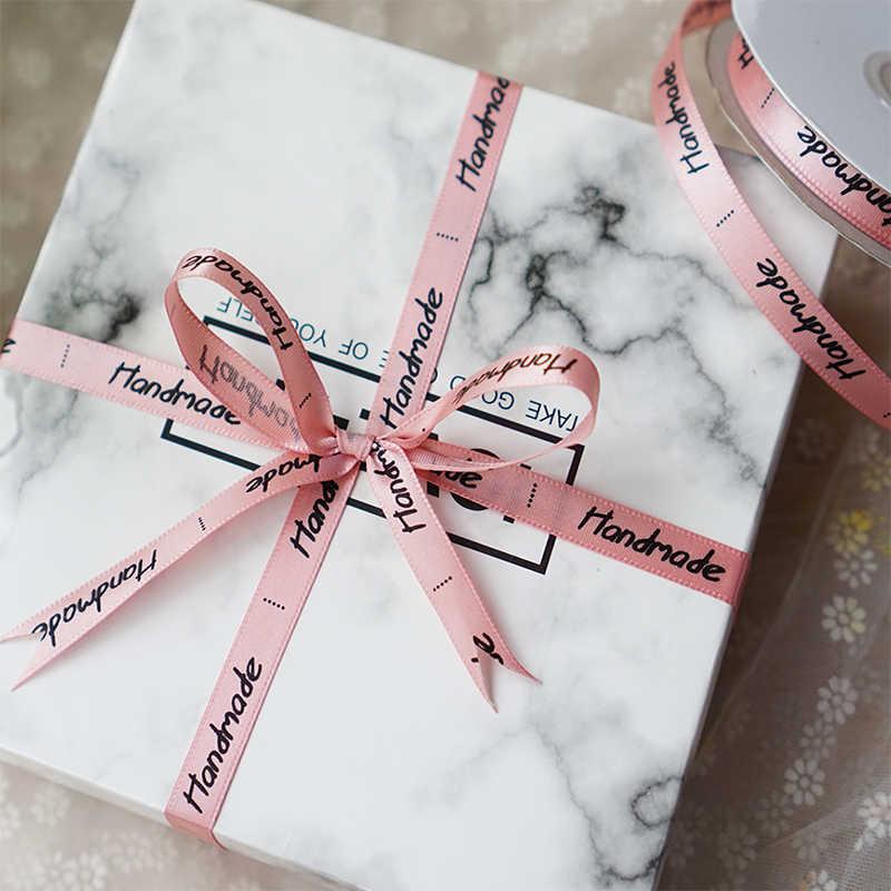 1cm מכתב מודפס פרצוף אחד משי סאטן סרטי 2 מטרים\חבילה חג המולד ליל כל הקדושים חתונה מסיבת יום הולדת מתנת גלישת סרטים