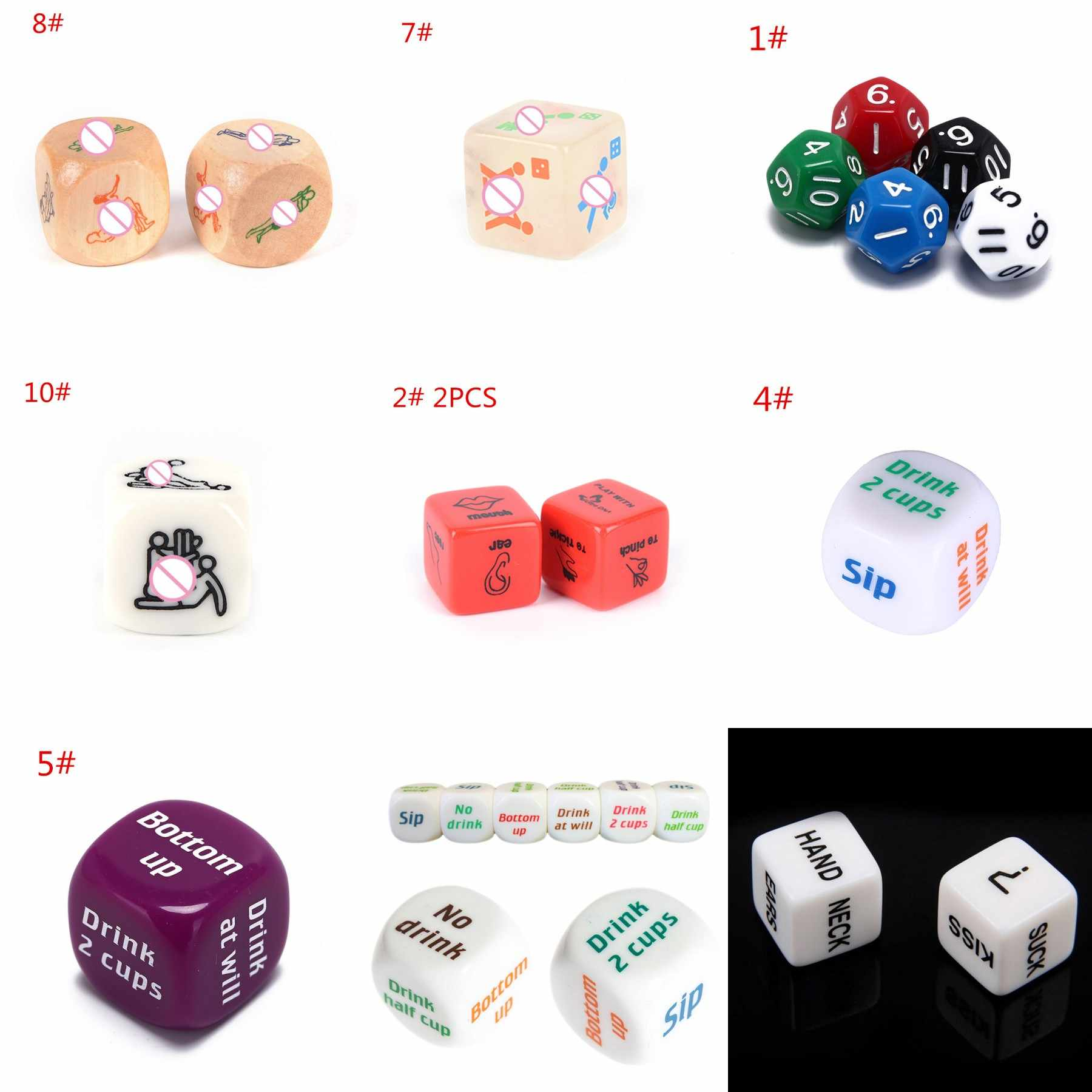 HOT!11 Style 12 Sided Dice Die Positions Sexy Romance Love Humour Gambling Adult Games Erotic Craps Pipe Sex Toys For Couples