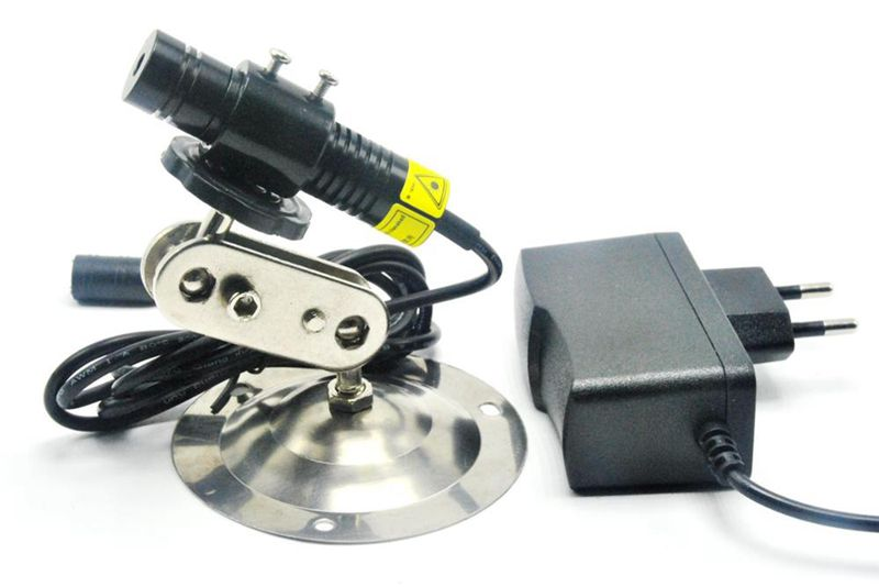 16mm*68mm Focusable 648nm 650nm 200mW Red Laser Module With Dot/Line/Cross Collimating Lens & 5V Adapter & Holder