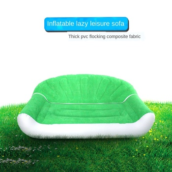 Inflatable Sofa Lazy Plush Sofa Chair Single Foldable Adult Sofa Bedroom Living Room Outdoor Inflatable Air Plush Bed