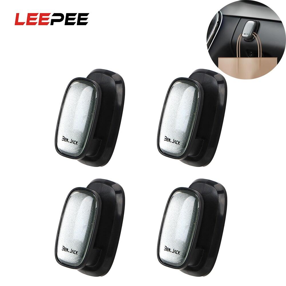 LEEPEE 4 Piece/set Self Adhesive Hook For USB Cable Key Storage  Car Hooks Car Organizer Storage Auto Fastener Clip