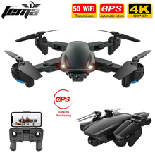 FEMA SG701 SG701S RC GPS Drone z 5G WiFi FPV 4K podwójna kamera HD optyczny przepływ składany Quadcopter Mini Dron PK E520S SG907 tanie tanio CN (pochodzenie) Metal Z tworzywa sztucznego 500m(GPS Version) 33*33*5 5cm Read the manual Mode2 30days Silnik szczotki