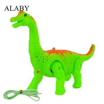 New Electronic Dinosaur Walking With Sound Animals Model 3D Projection Brachiosaurus Dinosaur Battery Operated Toy for Kids Baby electric walking dinosaur toys glowing simulation with sound animals model for kids boys children interactive