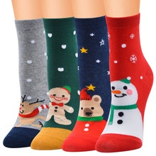 цена New 2019 Cotton Christmas Socks Women/Men/Girl/Boy Autumn Winter New Year Santa Claus Christmas Tree Snow Elk Gift Socks