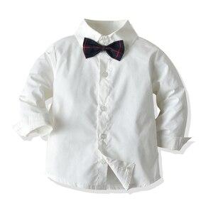 Image 4 - Kids Boys Formal Suits Blazers Sets 4Pcs Clear Gentleman Kids Baby Boys Suit Tops Shirt Waistcoat Tie Pant 4PCS Set Clothes