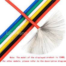 5 M/Lot silicone electronic wire UL3239-14/16/18/20/22/24/26/28/30#AWG 200 degrees Celsius high temperature soft wire