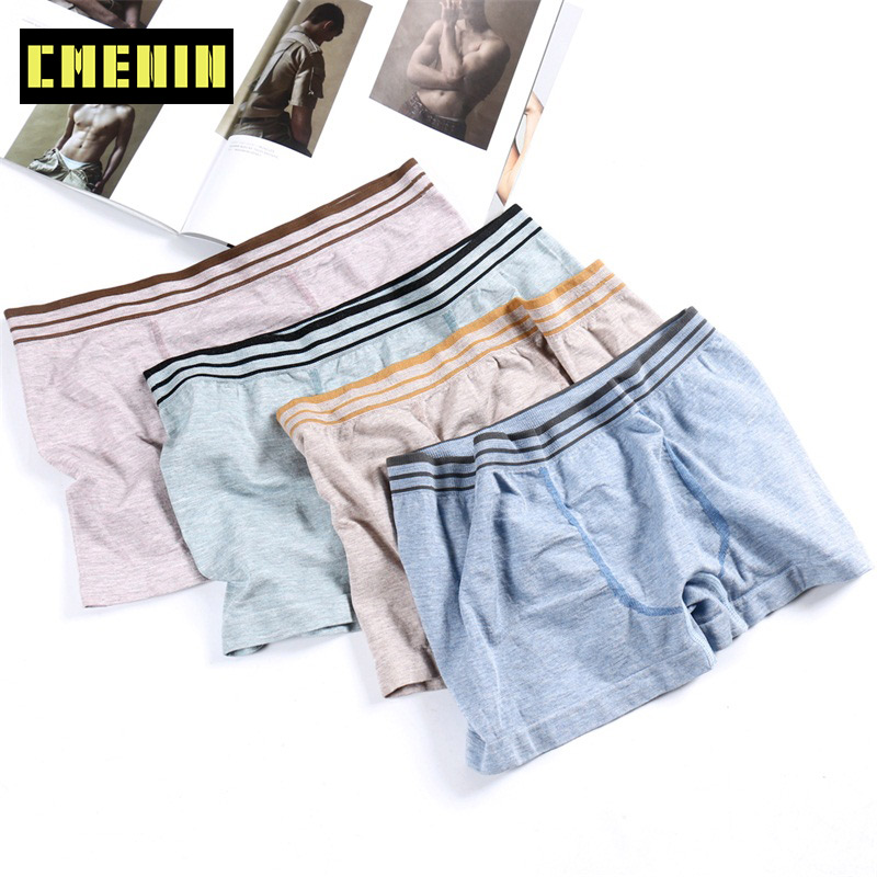 40-100Kg Sexy Men Underwear Boxers Seamless Comfortable Cotton Modal Boxer Shorts Multi Color Solid Underpants Lingerie M0050