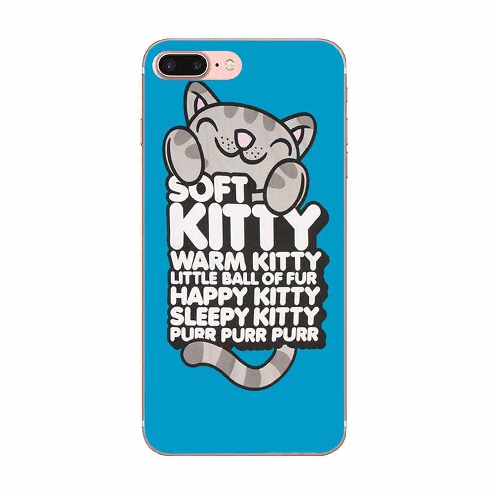 Chat doux Kitty chanson la théorie du Big Bang pour Xiao mi rouge mi 4 7A 9T K20 CC9 CC9e Note 7 9 Y3 SE Pro Prime aller jouer couverture