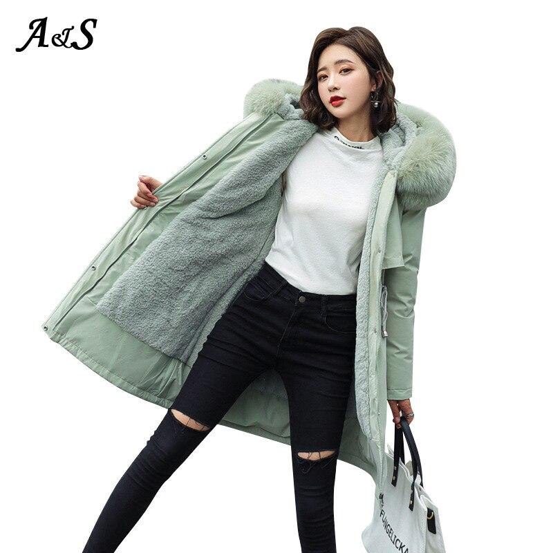 Купить женская куртка с капюшоном anbenser зимняя теплая повседневная