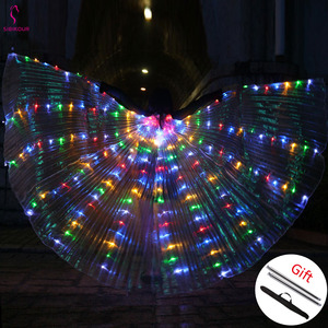 Image 2 - 2019 Women Belly Dance Isis Wings Led Isis Wings Belly Dance Accessory Wings Costume Butterfly Wings Adult Egyptian With Sticks
