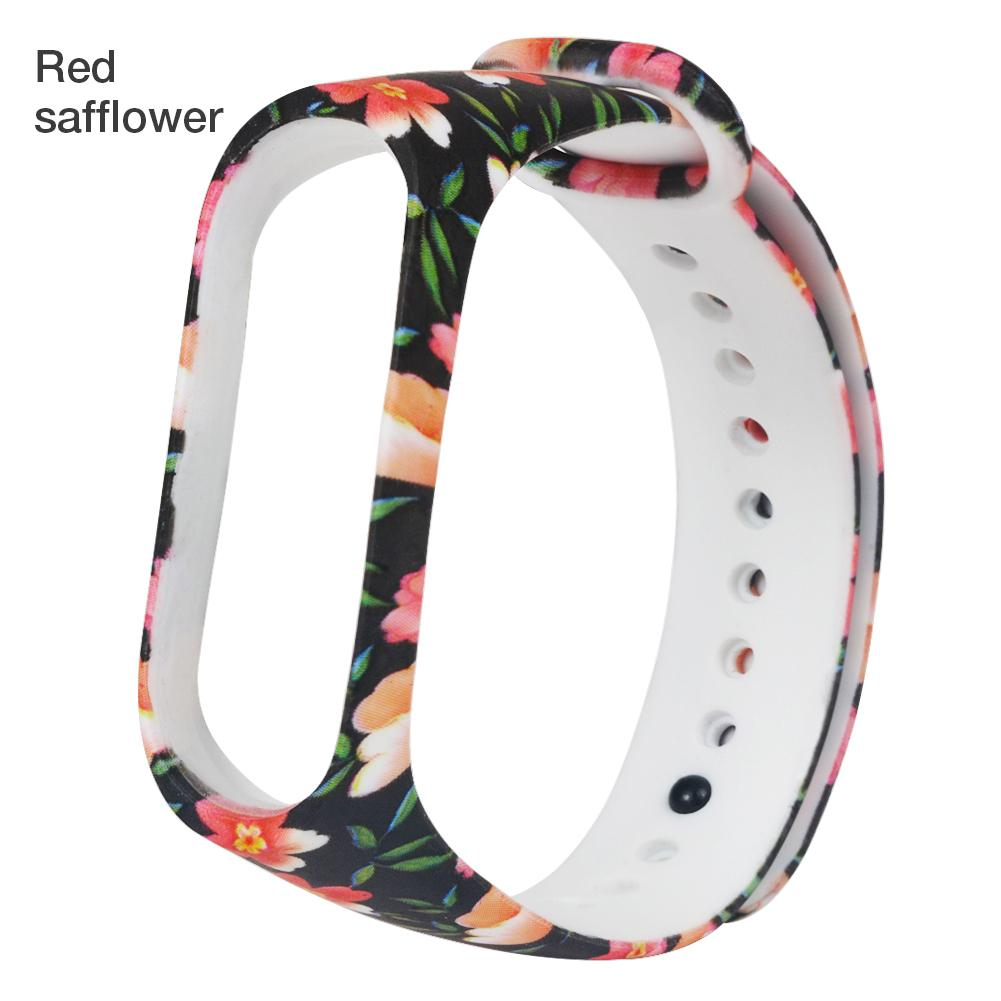 Hot For Xiaomi Bracelet 4 Mi Band 4 Painted Pattern Replacement Watch Silicone Wrist Strap For Xiaomi Bracelet Band 4/3 Strap