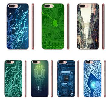 Computer Battery Circuit Board Transparent TPU Covers For Samsung Galaxy A51 A71 A81 A90 5G A91 A01 S11 S11E S20 Plus Ultra image
