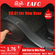 Carbon Fiber Rubber Moulding Strip Zachte Zwarte Bekleding Bumper Strip DIY Instaplijsten Protector Edge Guard Auto Stickers Auto Styling 1M(China)