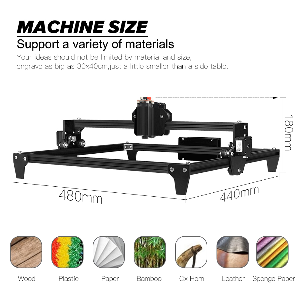 Image 2 - CNC 12V 30*40cm 2500MW 5500MW Mini Laser Engraving Machine 2Axis DIY Engraver Desktop Wood Router/Cutter/Printer + Laser Goggles3D Printers   -