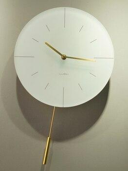 Fashion Wall Clock Simple Clock Modern Digital Pendulum Living Room Nordic Design Clock Waterproof Luxury Duvar Saati Decor EE50