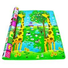 Baby Crawling Play MAT 2*1.8 เมตร Climb Pad คู่ผลไม้ตัวอักษรและ Happy FARM ของเล่นเด็ก playmat พรมเด็กเกมเด็ก