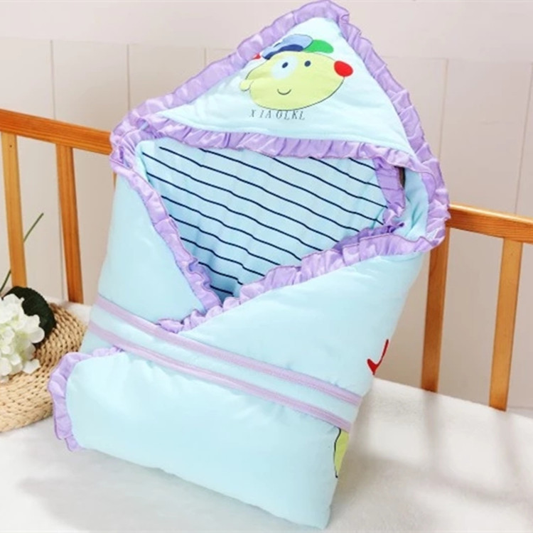 Baby's Bag Be Detachable BABY'S BLANKET Baby Blanket Pure Cotton Newborns Spring And Autumn Cartoon Thick Party Is