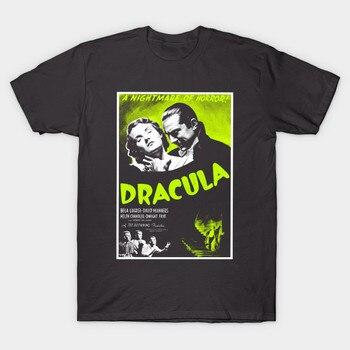 Camiseta para hombre Dracula Bela Lugosi cartel de película de terror camiseta para mujer