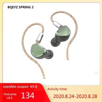 BQEYZ primavera 2 auriculares HIFI en el oído Triple híbrido BA controlador dinámico piezoeléctrico IEM Monitor audífonos deportivos auriculares BQ3 TFZ No.3