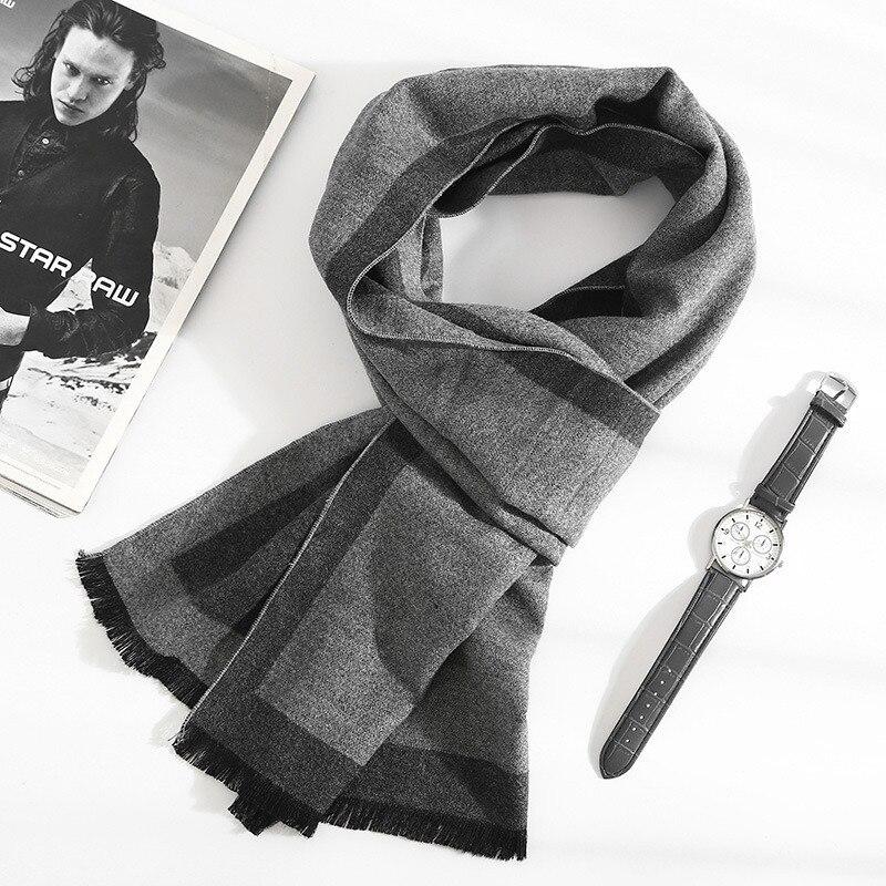 Осень зима 2020, Новые Модные Качественные шарфы, толстые теплые кашемировые шарфы, Длинные деловые шарфы, Классическая шаль для мальчиков, бесплатная доставка|Мужские шарфы| | АлиЭкспресс