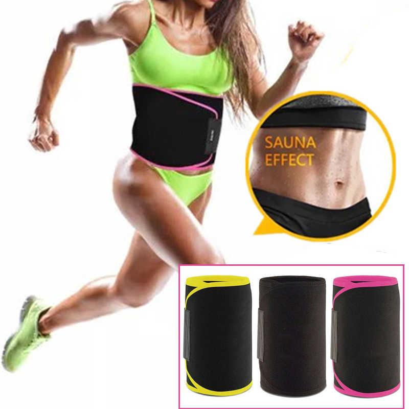 Girl Women Sauna Waist Trainer Sweat Belt Tummy Control Workout Yoga Slimming